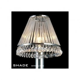 Polished Chrome & Crystal Candle Light Shade
