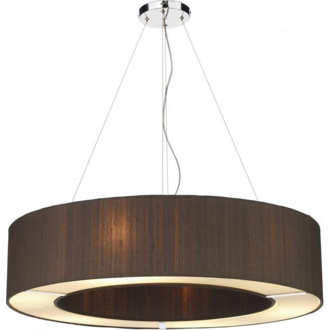 Dar Silk Collection Polo Large 6 Light Ceiling Pendant