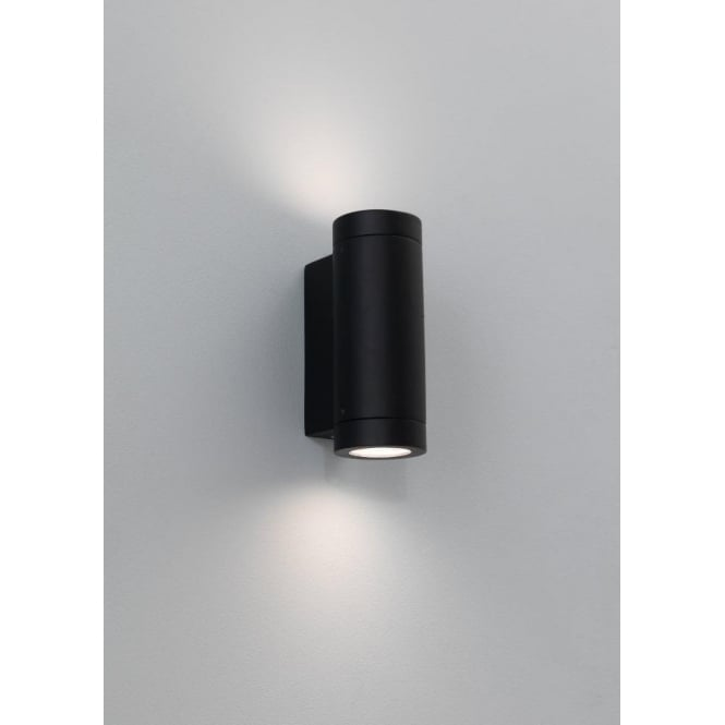 Astro Lighting Porto Plus 2 Light Low Energy Outdoor Wall Fitting in Black Finish