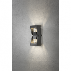 Potenza 2 Light High Powered Dimmable LED Wall Fitting in Anthracite Finish