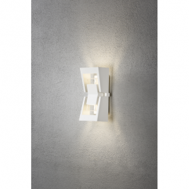 Potenza 2 Light High Powered Dimmable LED Wall Fitting in White Finish