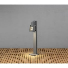Potenza Single Light LED Outdoor Post Light in Grey Painted Finish