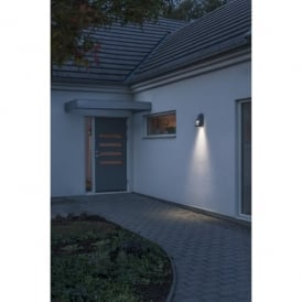 Potenza Single Light LED Outdoor Wall Light in Grey Painted Finish