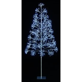1.5m Silver Blossom Tree with 576 White LED Lights