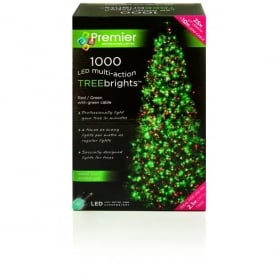 Premier Decorations 1000 Red and Green LED Treebrights with Multi-Action Facility