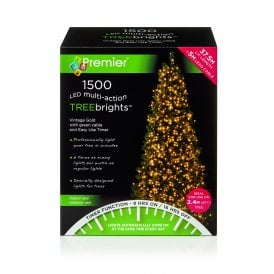 1500 Vintage Gold LED Treebrights with Multi Action Facility and Timer Function