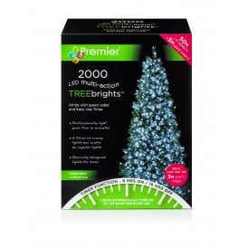 2000 Bright White LED Treebrights with Multi Action Facility and Timer Function