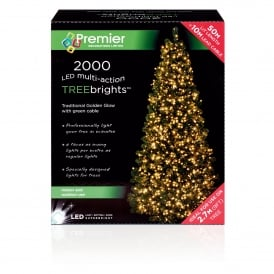 2000 Traditional Golden Glow LED Treebrights with Multi Action Facility