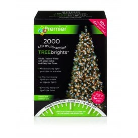 2000 White & Warm White LED Treebrights with Multi Action Facility and Timer Function