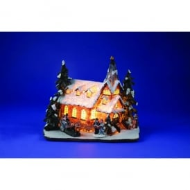 Premier Decorations 26cm Lit Victorian Church