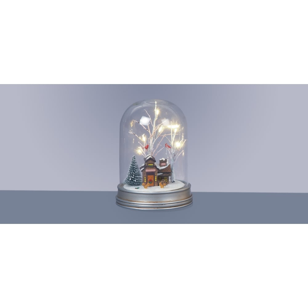 Premier decorations 29cm battery operated lit glass dome - Battery operated car interior lights ...