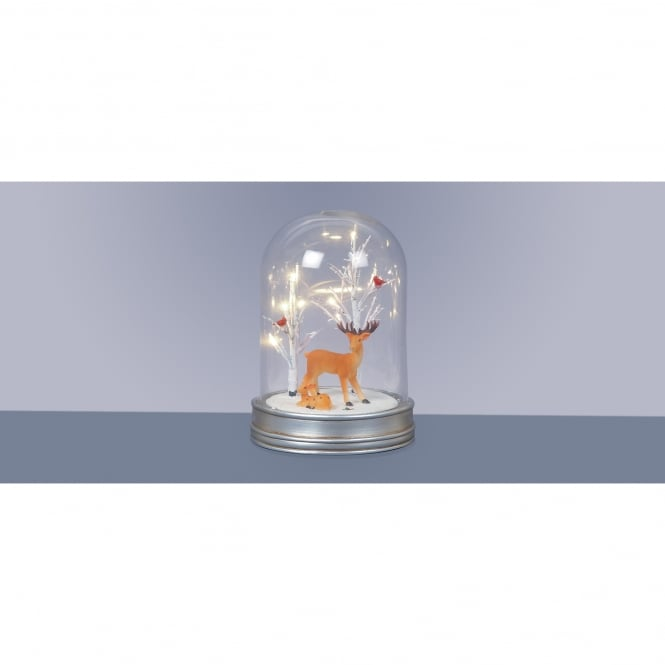 Premier Decorations 29cm Battery Operated Lit Glass Dome ...