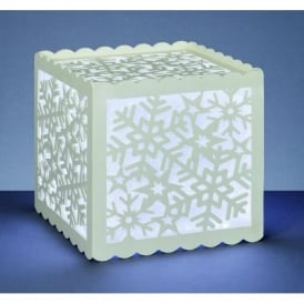 Premier Decorations 30cm Silhouette Lantern with Snowflake Design and 144 White LED's