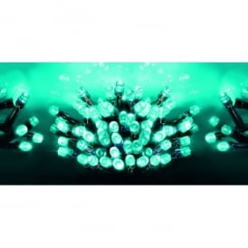 Premier Decorations 360 LED Turquoise Supabrights Light Set With Multi-Action Facility