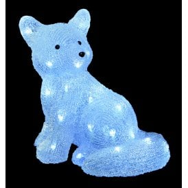 Acrylic Arctic Fox with 32 White LED