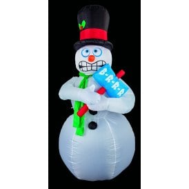 Festive 2.1M Inflatable Shivering Snowman