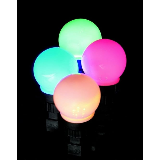Premier Decorations Set of 10 Battery Operated LED Multi Action Multi Coloured Party Lights