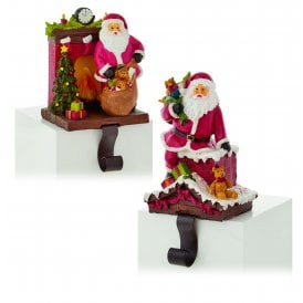 Premier Decorations Set of Two Santa Stocking Holders