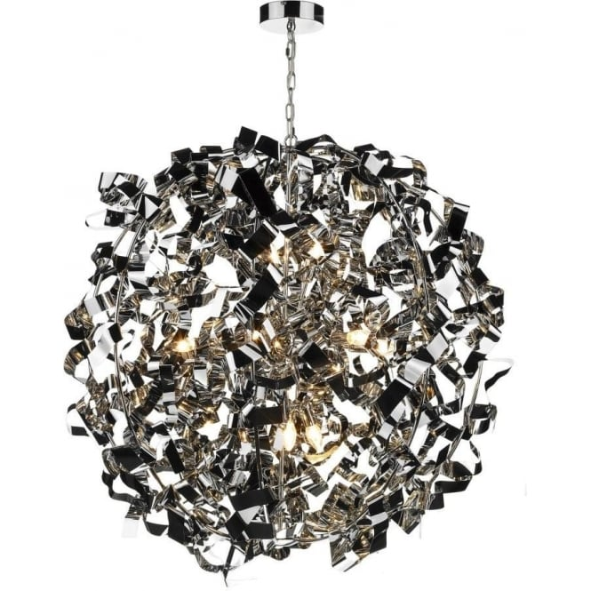 Dar Lighting Puccini 8 Light Pendant in Polished Chrome