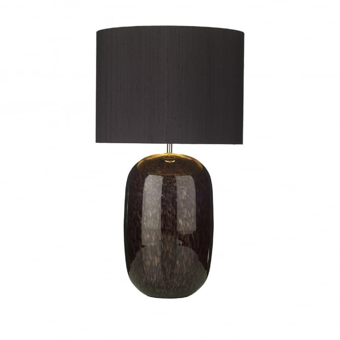 David Hunt Lighting Pura Single Light Table Lamp Base Only in Black and Gold Finish