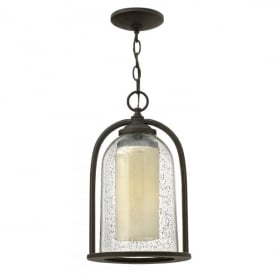 Quincy Single Light Ceiling Pendant Made of Die Cast Aluminium in Oil Rubbed Bronze Finish