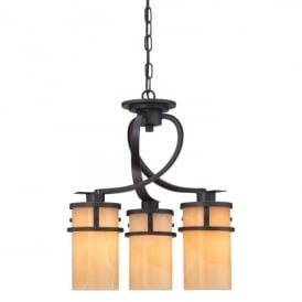 Quoizel Kyle 3 Light Ceiling Pendant In Imperial Bronze Finish