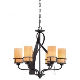 Quoizel Kyle 6 Light Ceiling Pendant In Imperial Bronze Finish