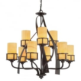 Quoizel Kyle 9 Light Ceiling Pendant In Imperial Bronze Finish