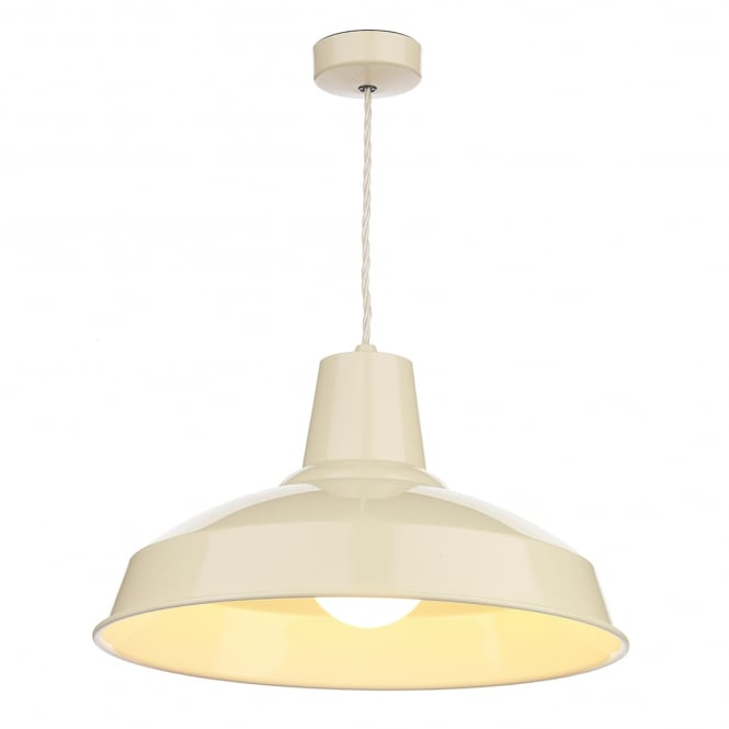 David Hunt Lighting Reclamation Single Light Ceiling Pendant in Cream Finish