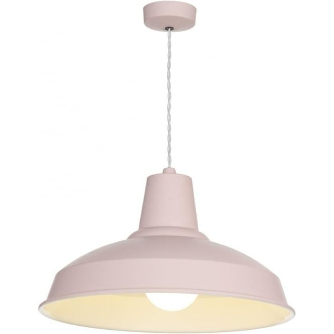 David Hunt Lighting Reclamation Single Light Ceiling Pendant with a Cotton Candy Finish