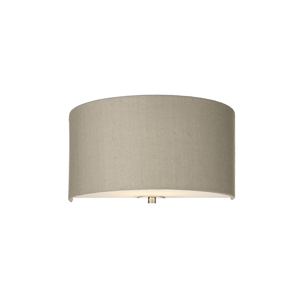 Dar Silk Collection Renoir Single Light Wall Fitting With A Linen Grey Silk Shade - Lighting ...