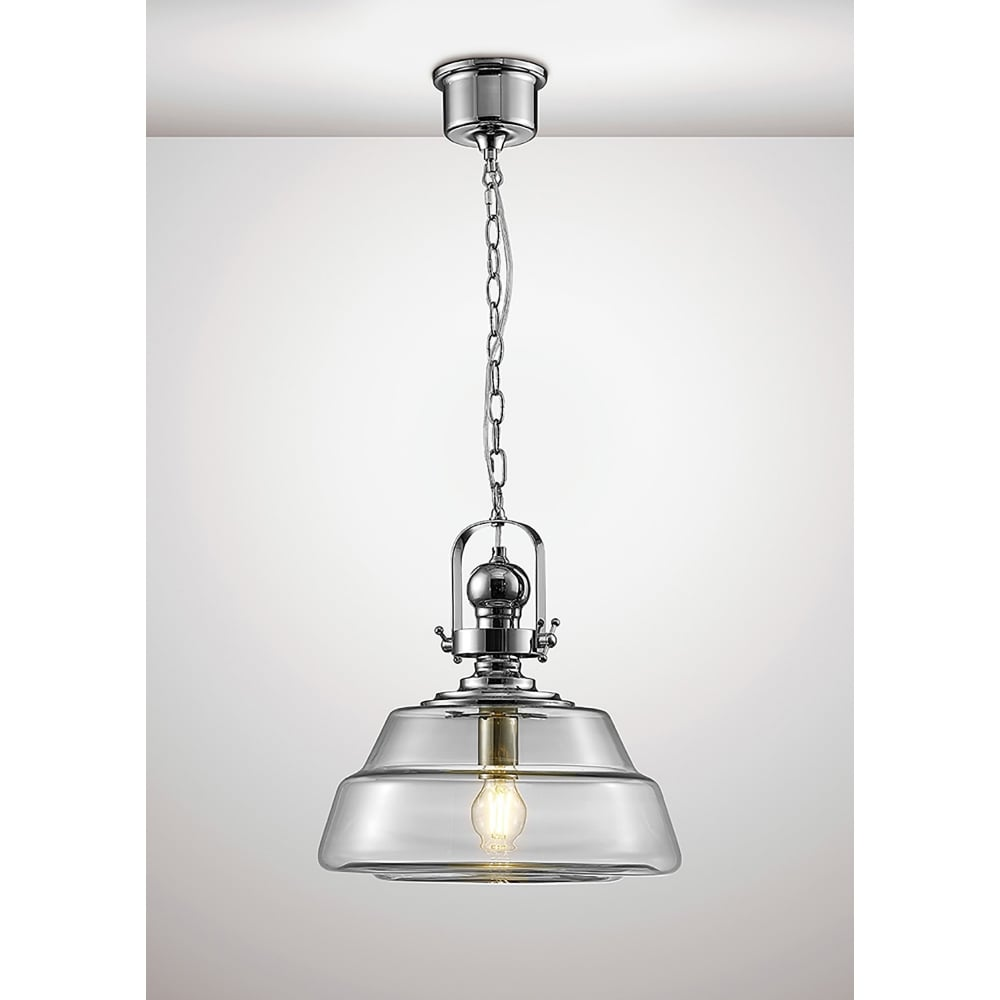 Glass Globe Pendant Light Nz Large Uk Clear Fixtures: Diyas Reyna Single Light Large Ceiling Pendant In Polished