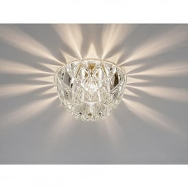 Ria Single Light Dome Crystal Recessed Down Light
