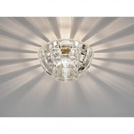 Ria Single Light Faceted Round Crystal Down Light