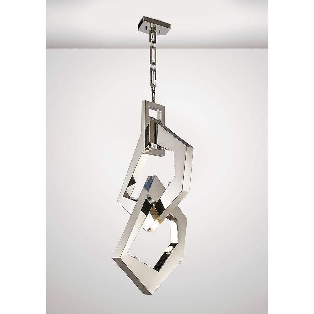 Diyas Ricadi 8 Light Ceiling Pendant In Stainless Steel
