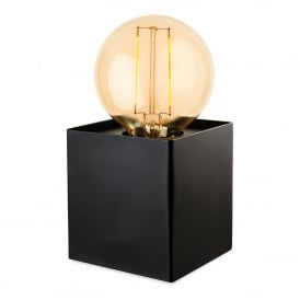 Richmond Single Light Table Lamp In Black Finish With LED Vintage Style Lamp