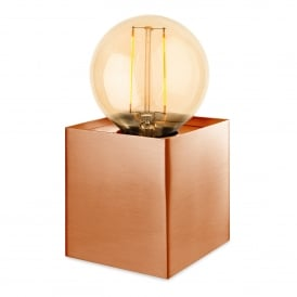Richmond Single Light Table Lamp In Brushed Copper Finish With LED Vintage Style Lamp