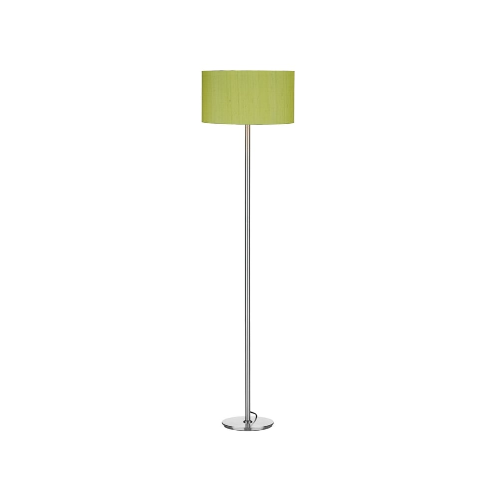 Rimini Single Light Floor Lamp Base Only In Satin Chrome Finish