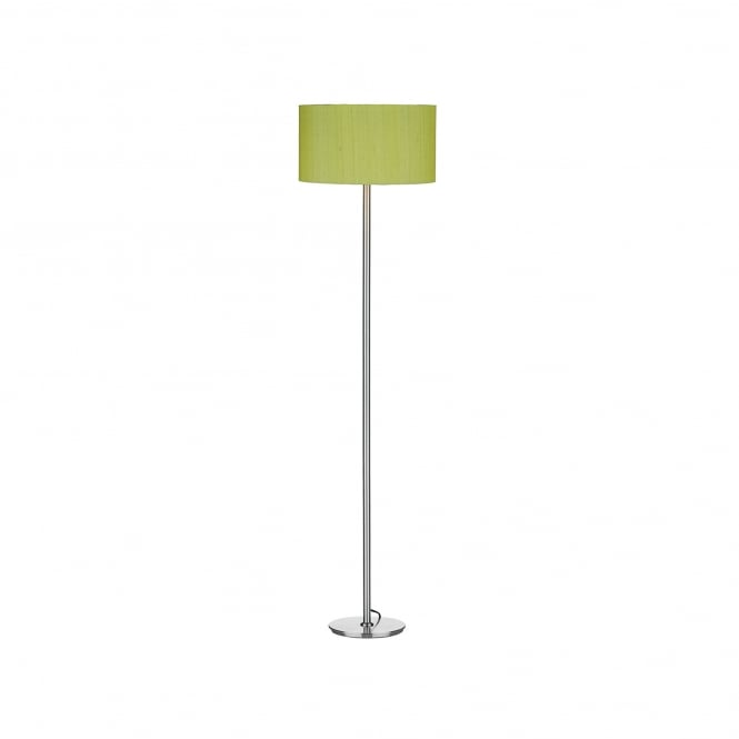 Dar Lighting Rimini Single Light Floor Lamp Base Only In Satin Chrome Finish