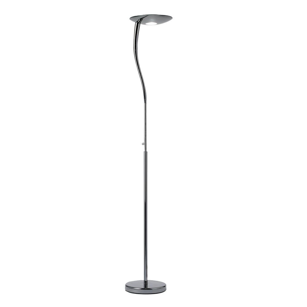 Endon lighting rimini single light halogen task floor lamp for Chrome halogen floor lamp