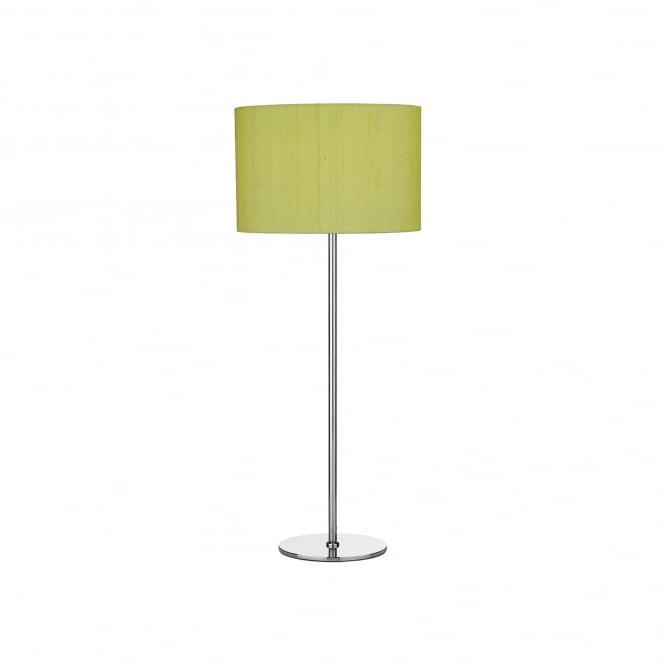 Dar Lighting Rimini Single Light Table Lamp Base Only In Polished Chrome Finish