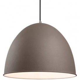 Riva Single Light Ceiling Pendant in Concrete Finish