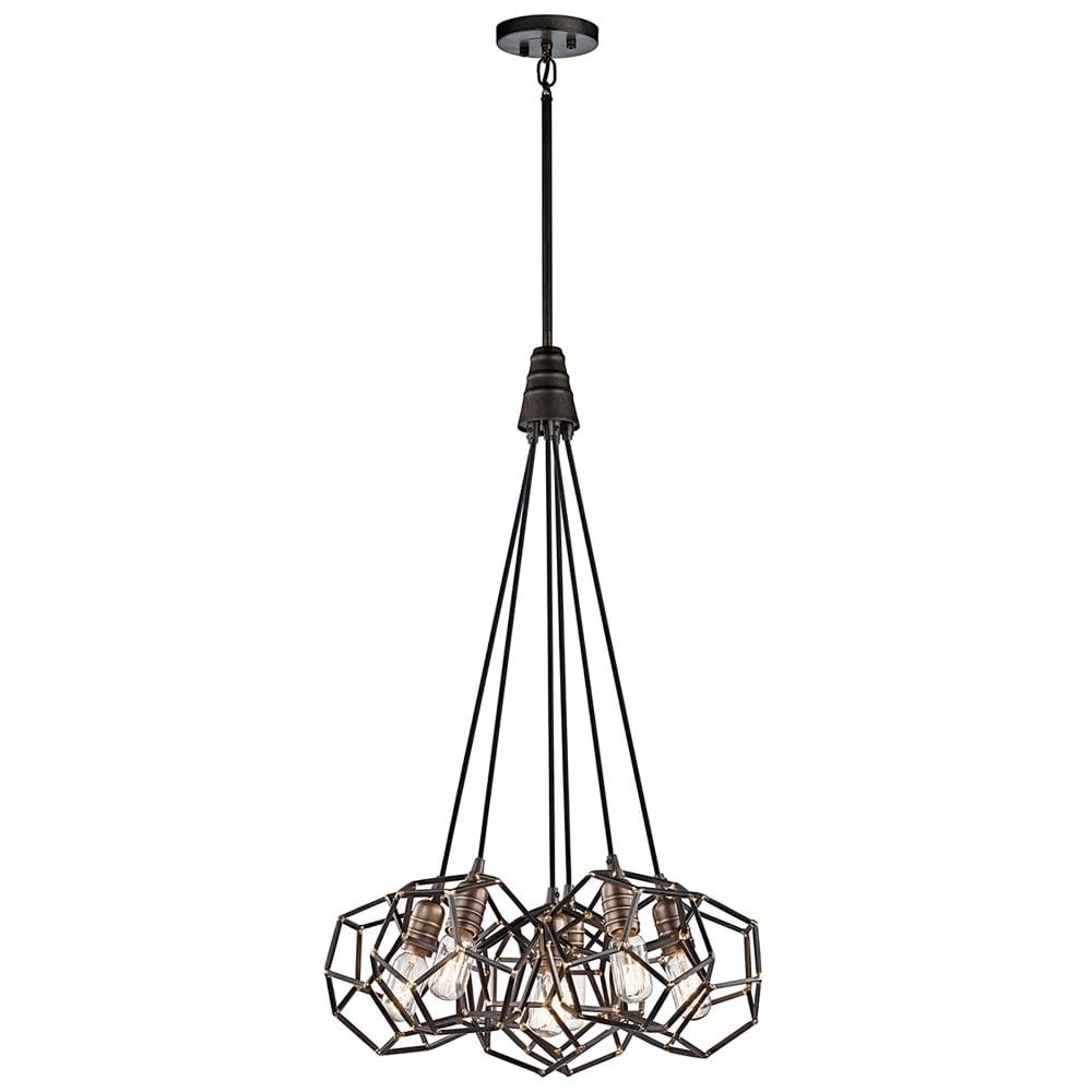 Elstead Lighting Rocklyn 6 Light Ceiling Cluster Pendant