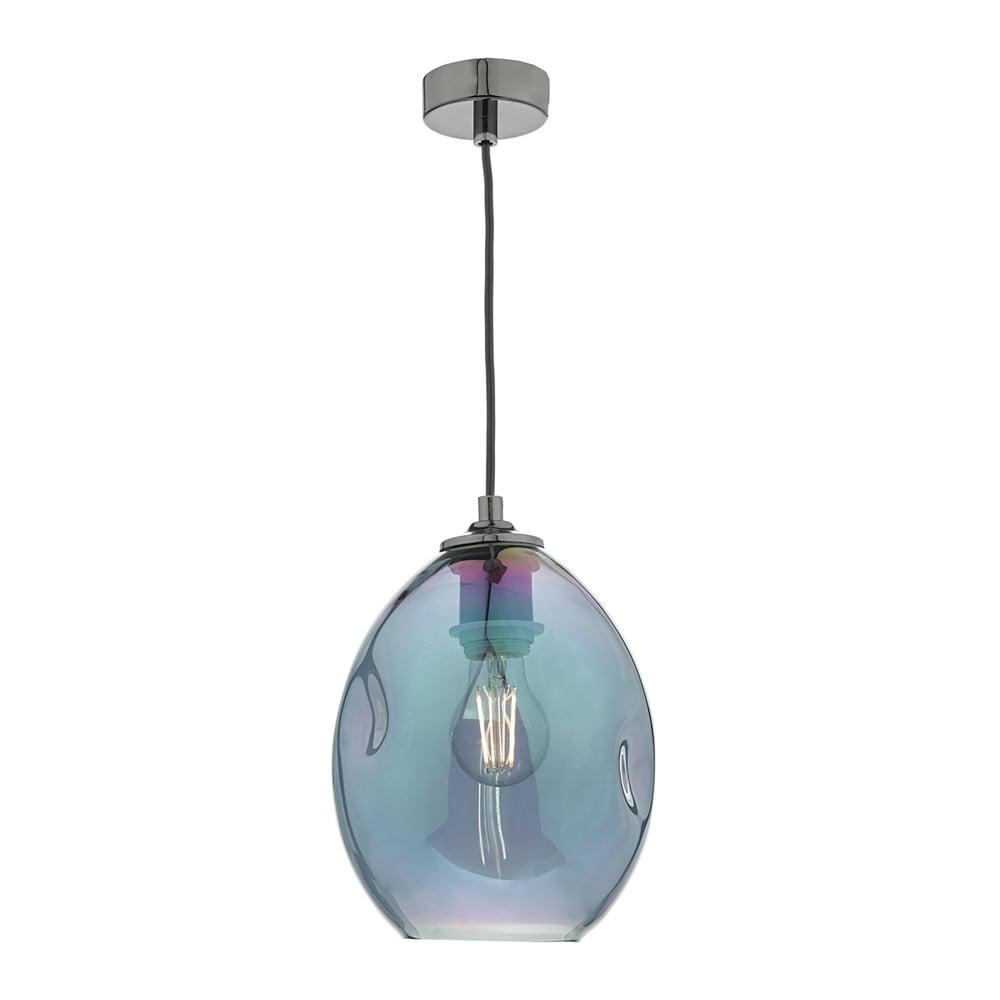Dar Lighting Rogan Single Light Ceiling Pendant In Black