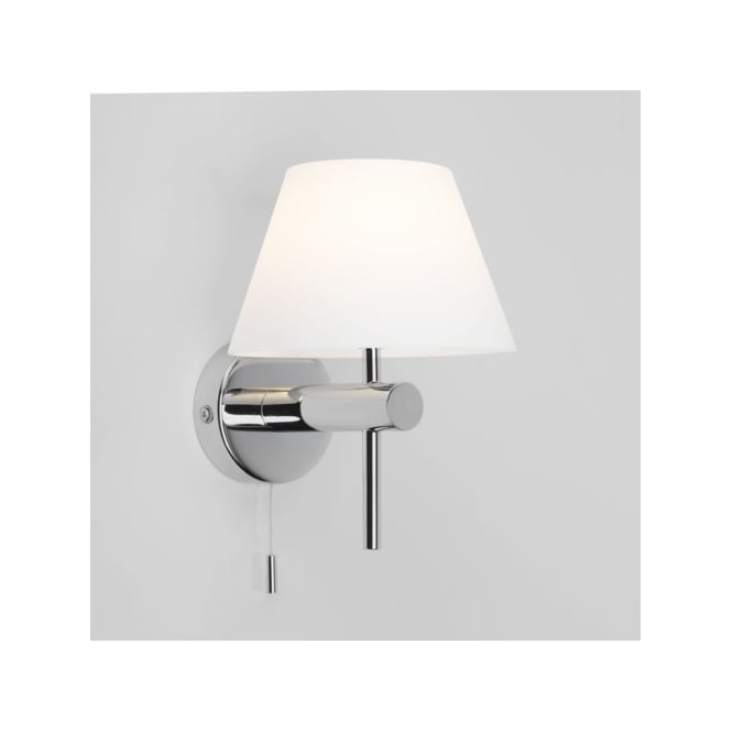 Astro Lighting Roma Single Light Switched Bathroom Wall Fitting in Polished Chrome Finish