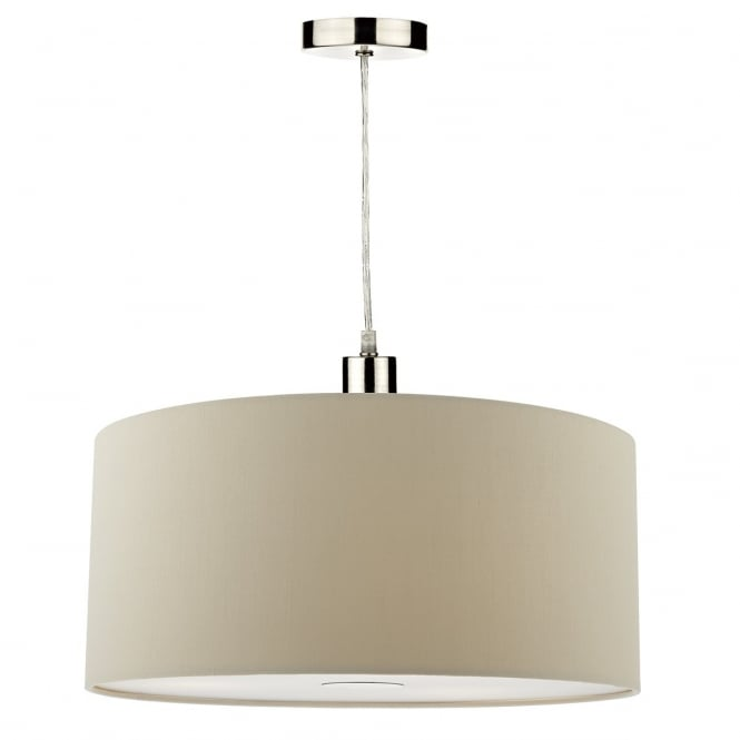 Dar Lighting Ronda Easy Fit 40cm Pendant Shade In Taupe Finish