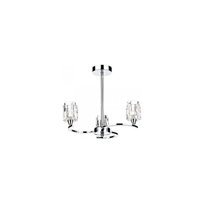 Dar Lighting Rotary 3 Light Ceiling Fitting in Polished Chrome Finish