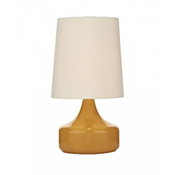 Dar Lighting Rumba Single Light Table Lamp With Mustard