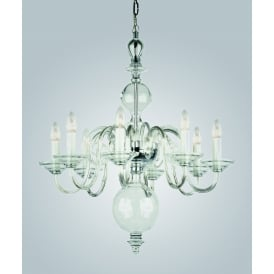Salas 8 Light Ceiling Pendant in Clear Crystal Finish
