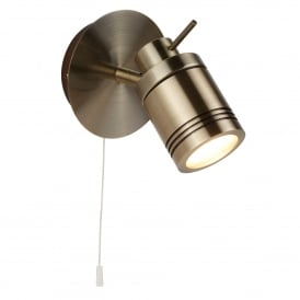 Samson Single Light Switched Bathroom Spot Fitting In Antique Brass Finish